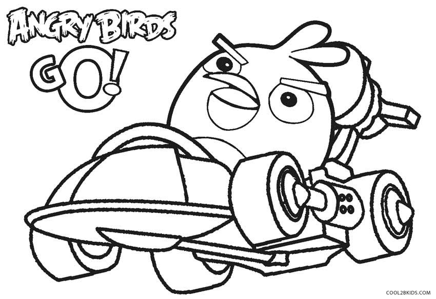 Angry Birds Go Coloring Pages Angry Birds Go Coloring Pages