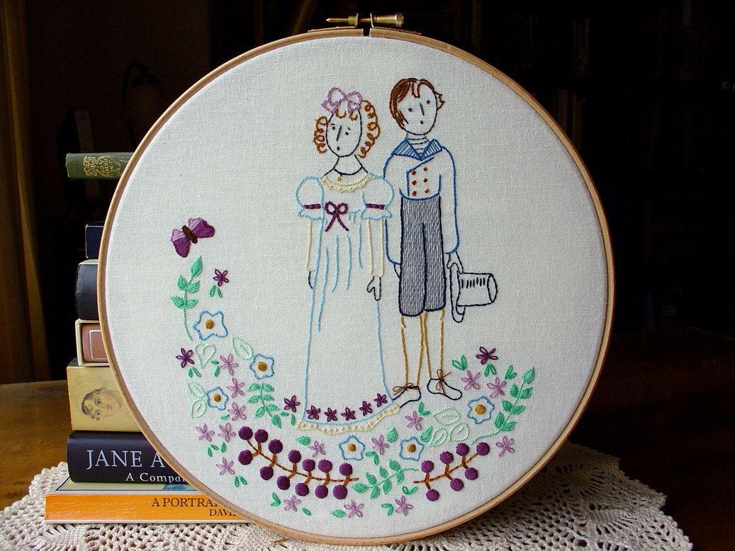 Pride And Prejudice Embroidery Pattern Pdf Lizzie Mr Darcy