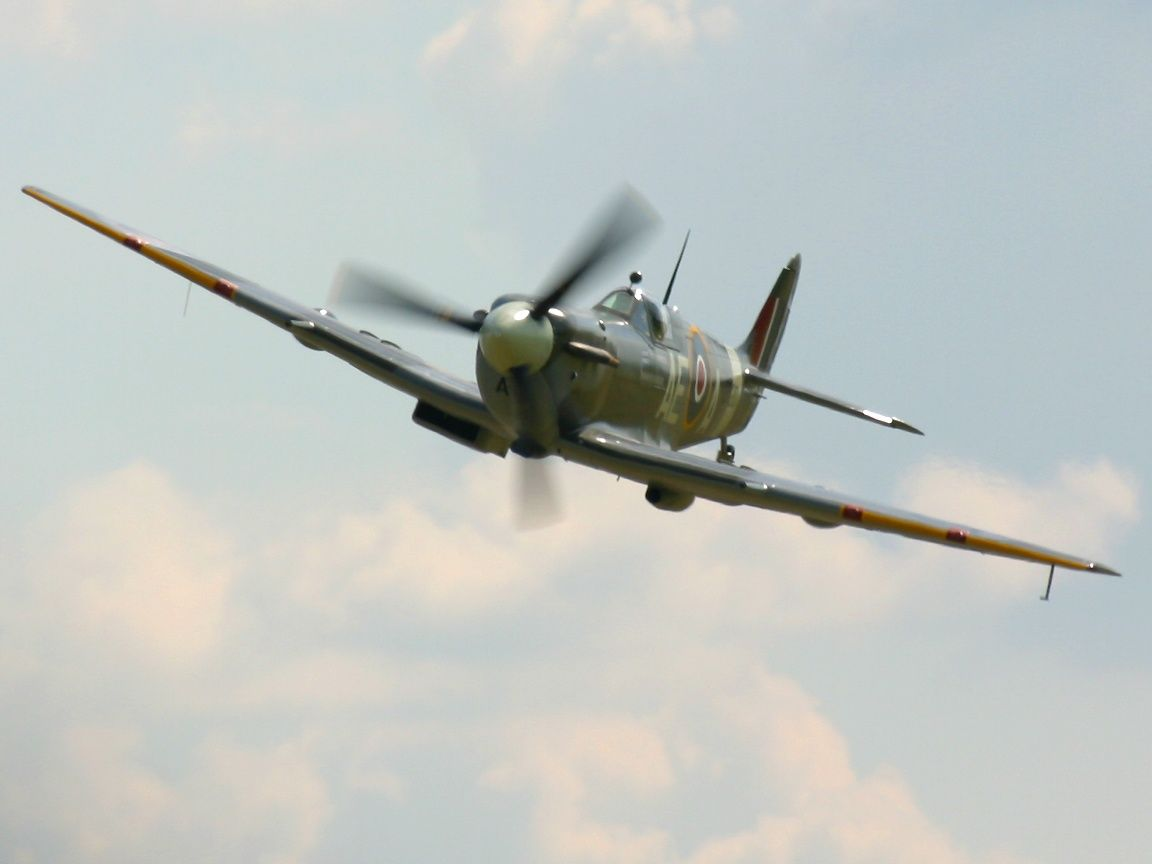 Spitfire EP120 City Of Winnipeg Photographed At The Duxford Flying