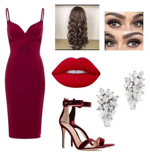"""""""Red Glamour"""" by valeriethefashionlover on Polyvore featuring Gianvito Rossi and Lime Crime"""