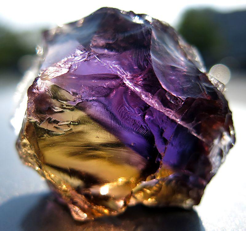 315.5 carat Facet quality ametrine rough. Anahi Mine Bolivia.