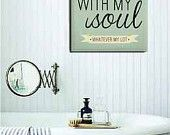 16x20 Canvas Print - It Is Well With My Soul - Inspirational Quote