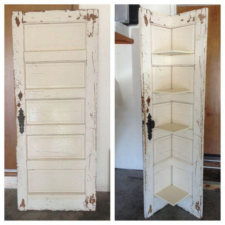 Door Shelves Antique Door Corner Shelf Door Corner Shelves Barn Door Decor Antique Door