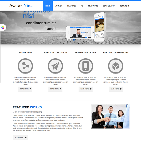 This Free Bootstrap Joomla Template Comes With 6 Preset Colour