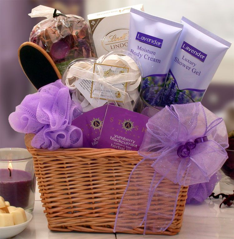 Lavender relaxation spa gift basket mothers day gift
