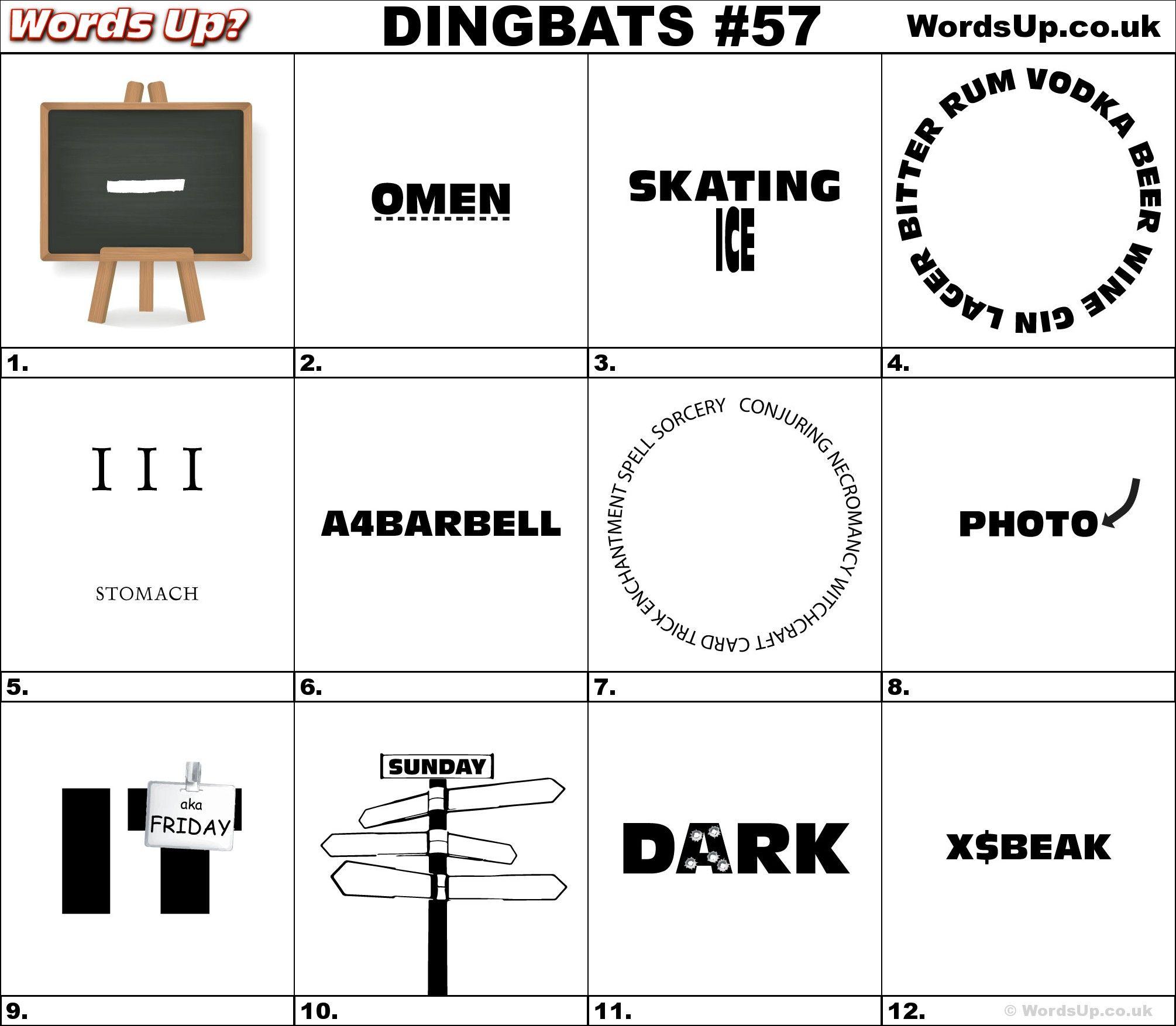 Dingbat Amp Whatzit Rebus Puzzles Dingbats Whatzits Rebus