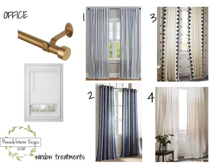 Transitional Curtain Panel And Hardware Ideas For White Faux Wooden Blinds Pottery Barn Curtain Rods Pottery Barn Curtains Modern Curtain Rods