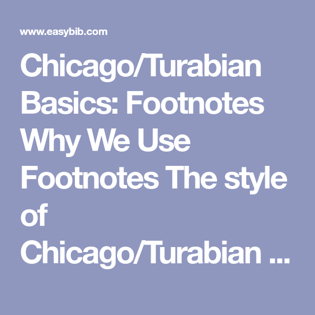 Chicago Citation Format Footnotes And How To Make Them With Images Citation Format Being Used Quotes Parenthetical Citations