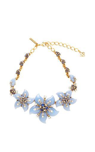 Resin Flower Necklace by Oscar de la Renta Now Available on Moda Operandi