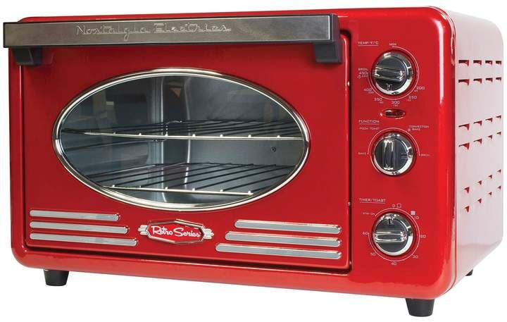 Nostalgia Electrics Retro Series 6 Slice Convection Toaster Oven Convection Toaster Oven Retro Toaster Nostalgia Electrics Retro