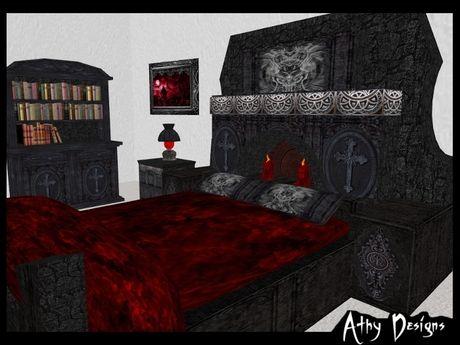 Goth Cross Cuddle Bedroom Set 2.jpg 460×345 pixels   Gothic Beds ...