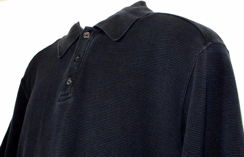 Tommy Bahama Hawaiian Polo Shirt Black Striped Texture Size L EUC Silk & Cotton #TommyBahama #Polo