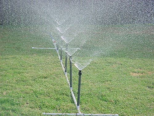 Homemade pvc water sprinkler sprinklers and