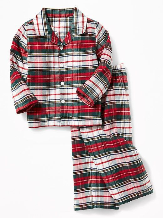 beccdfc9fe86 2-Piece Flannel Sleep Set for Toddler Boys- Christmas Pajamas  ad ...