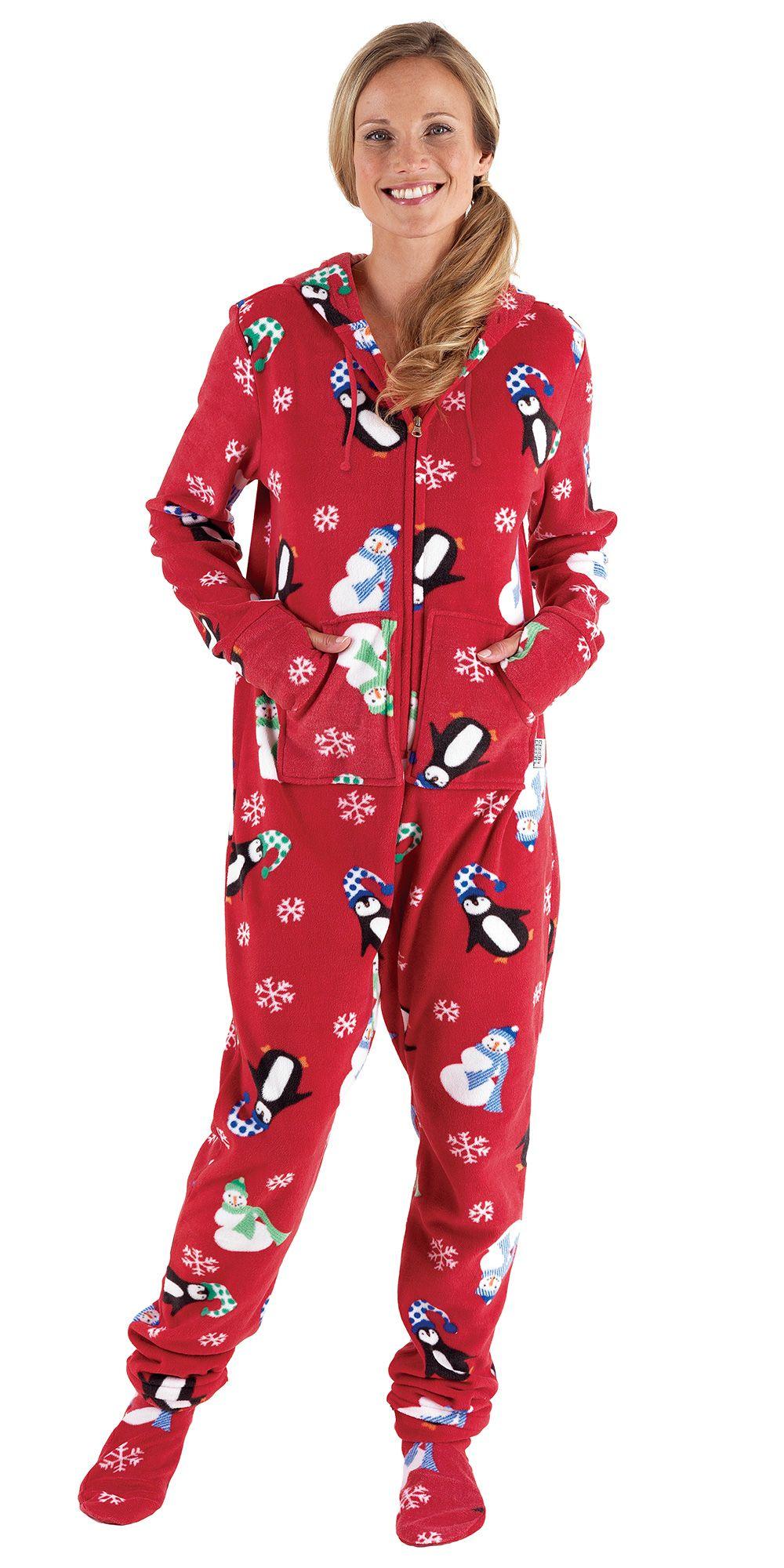 HoodieFootie™ Winter Whimsy Snuggle Fleece Pajamas