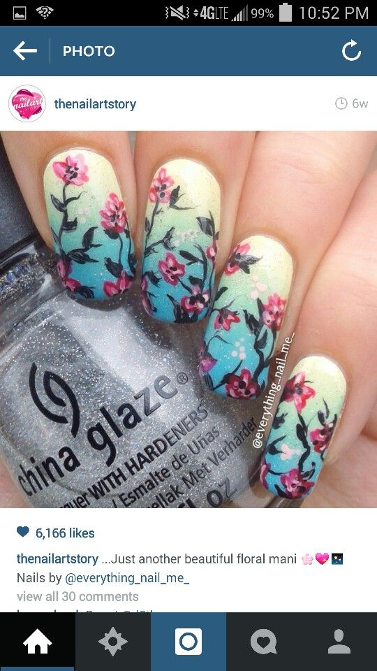 Ombre & flowers