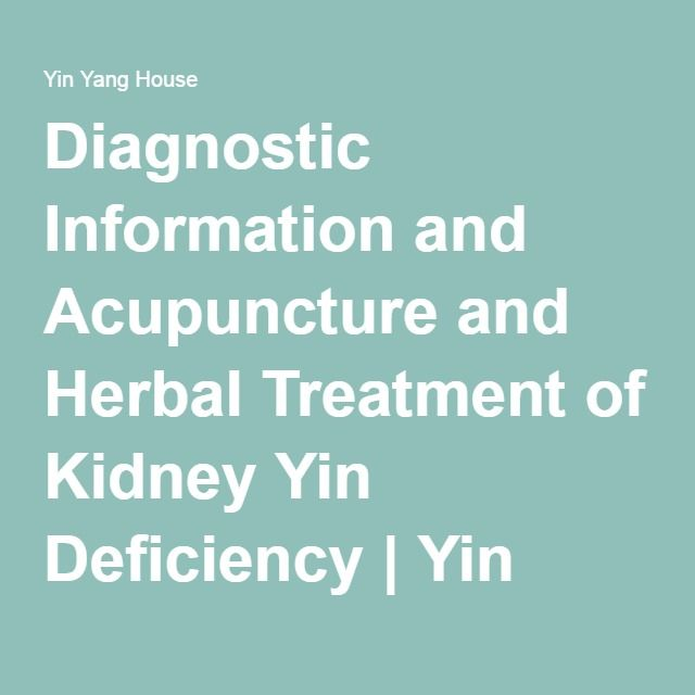 Diagnostic Information and Acupuncture and Herbal Treatment of