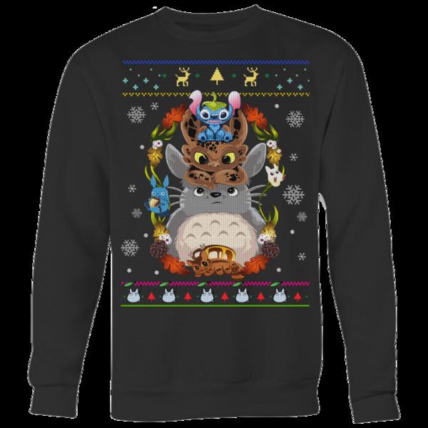 Stitch, Night Fury And Totoro The Friendship Sweatshirt