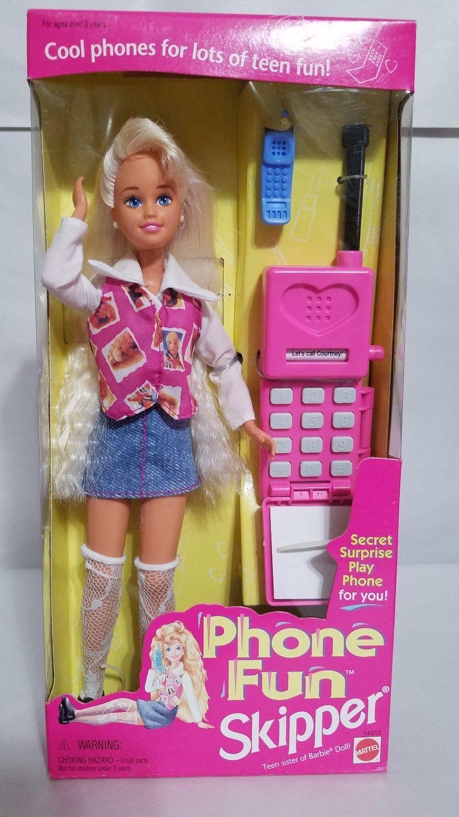 Phone Fun Skipper Barbie Doll Mattel New In Box 74299143120 Ebay Barbie Dolls Barbie Dolls