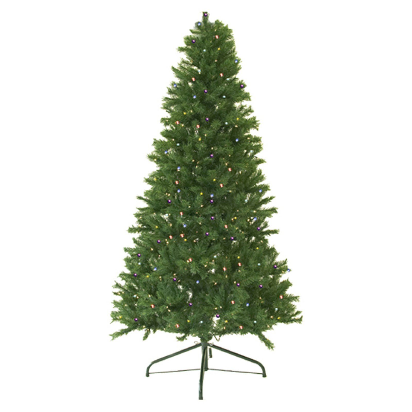 Northlight Pre Lit Canadian Pine Artificial Christmas Tree Multicolor Christmas Tree Clear Lights Pine Christmas Tree Artificial Xmas Trees