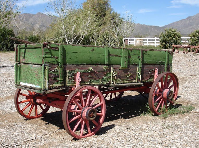We used our old wagon like this to carry cut, aged trees from the woods,for firewood.