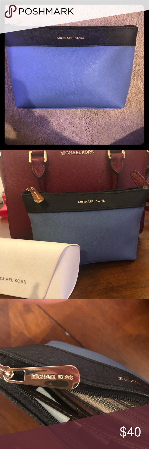 Michael Kors Makeup Bag/Clutch! New In Package!! 6.5''/4.5