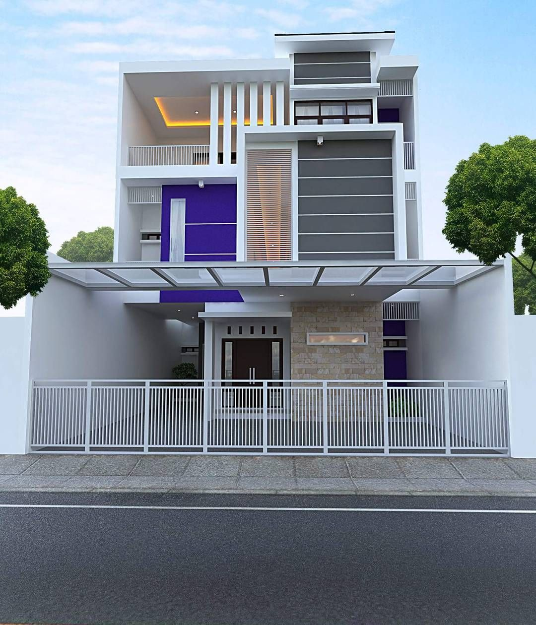 Desain Eksterior Rumah Marmer Cek Bahan Bangunan