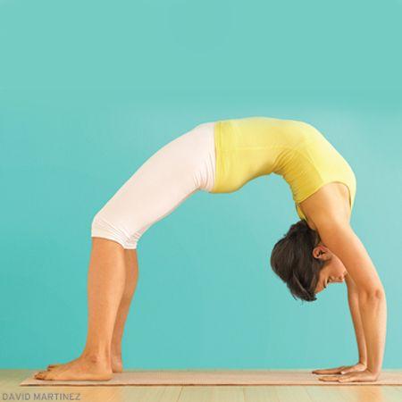 upward bow wheel pose  yoga backbend namaste yoga
