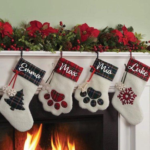 Personalized Stockings, Family Stockings, Dog Stocking, Cat Stocking
