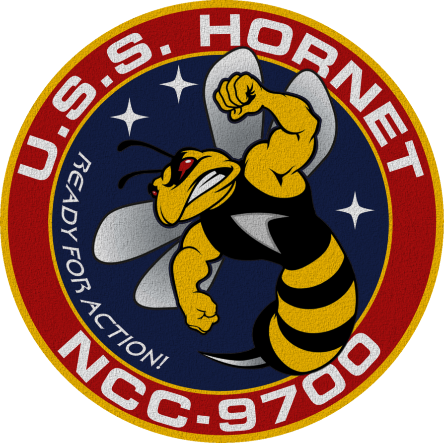 Uss Hornet Ncc 9700 Updated Ship S Insignia Uss Hornet Star Trek Logo Star Trek Emblem
