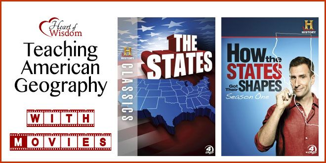 My boys have a very good foundation in American geography. We usedseveral resourcesbut the main ones were these two DVD series: How the States got their Shapes(often on TV; search your channels ...