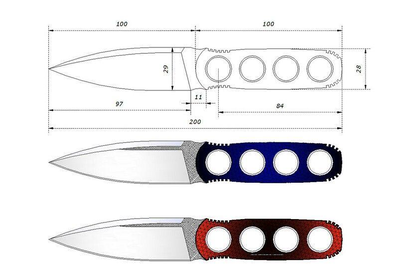 операцию, картинки чертеж метательного ножа работы