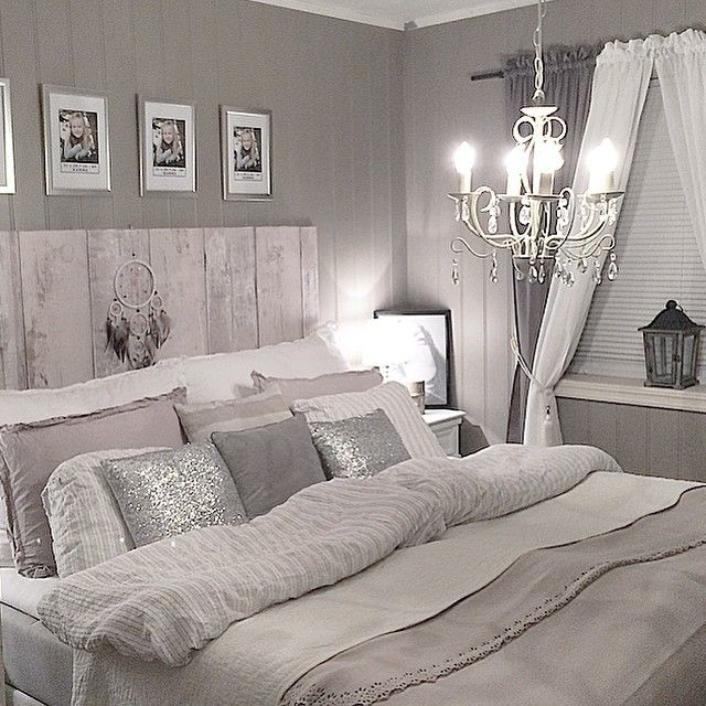 Headboard | home | Gray bedroom, Silver bedroom, White bedroom