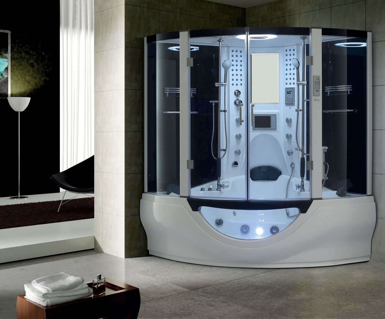 STEAM SHOWER ENCLOSURE SAUNA HOT TUB BATH SPA WHIRLPOOL MASSAGE ...