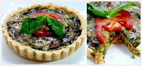 Spinach Wild Mushroom Quiche Ricetta Ricette Vegani Quiche