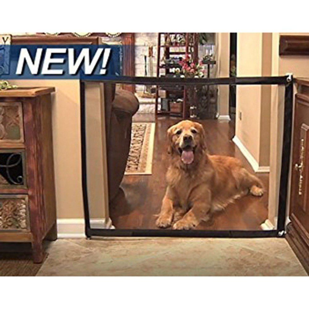 New Magic Dog Gate Pet Safety Guard Portable Folding Safe Net for Dog Baby UK`