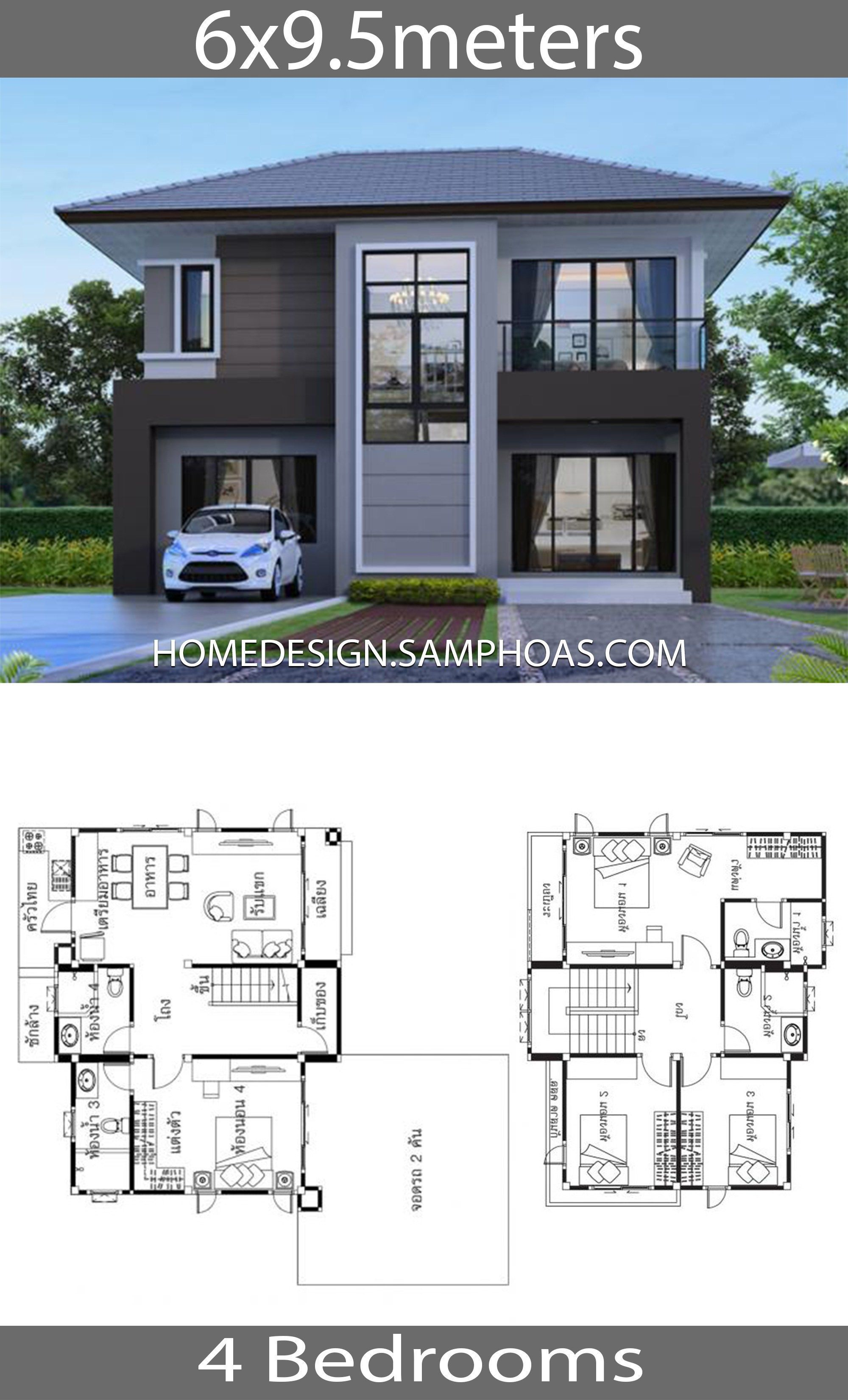 House Ideas 6x9 5m With 4 Bedrooms Home Ideas House Ideas 6x9 5m With 4 Bedroomshouse Des In 2020 With Images Pool House Designs Home Design Floor Plans House Plans Mansion