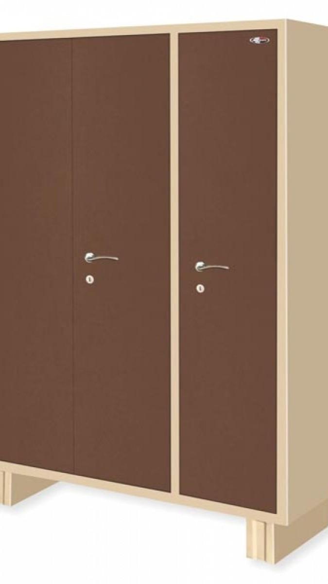 3 door powder coated almirah