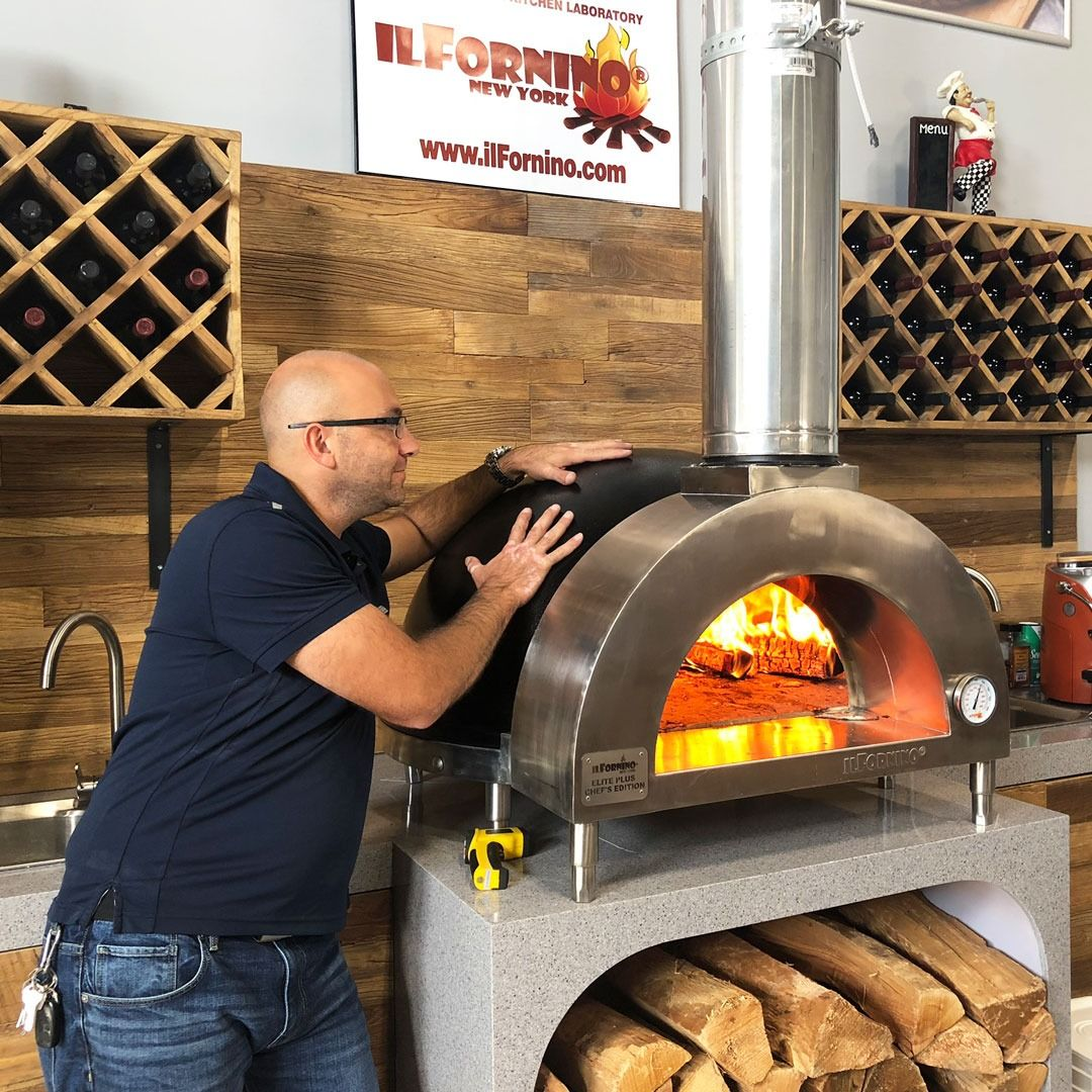 Hot From Inside Cool From Outside Our Ilfornino Elite Wood Fired Pizza Oven Dome Is Built From D In 2020 Wood Fired Pizza Oven Wood Fired Pizza Pizza Oven Outdoor