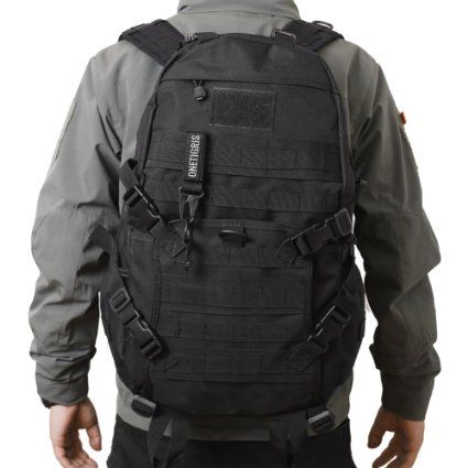 OneTigris RECON 34L Moudular Fast Tactical Assault Backpack DayPack for EDC Camping Hiking Traveling Bushcraft (Black)