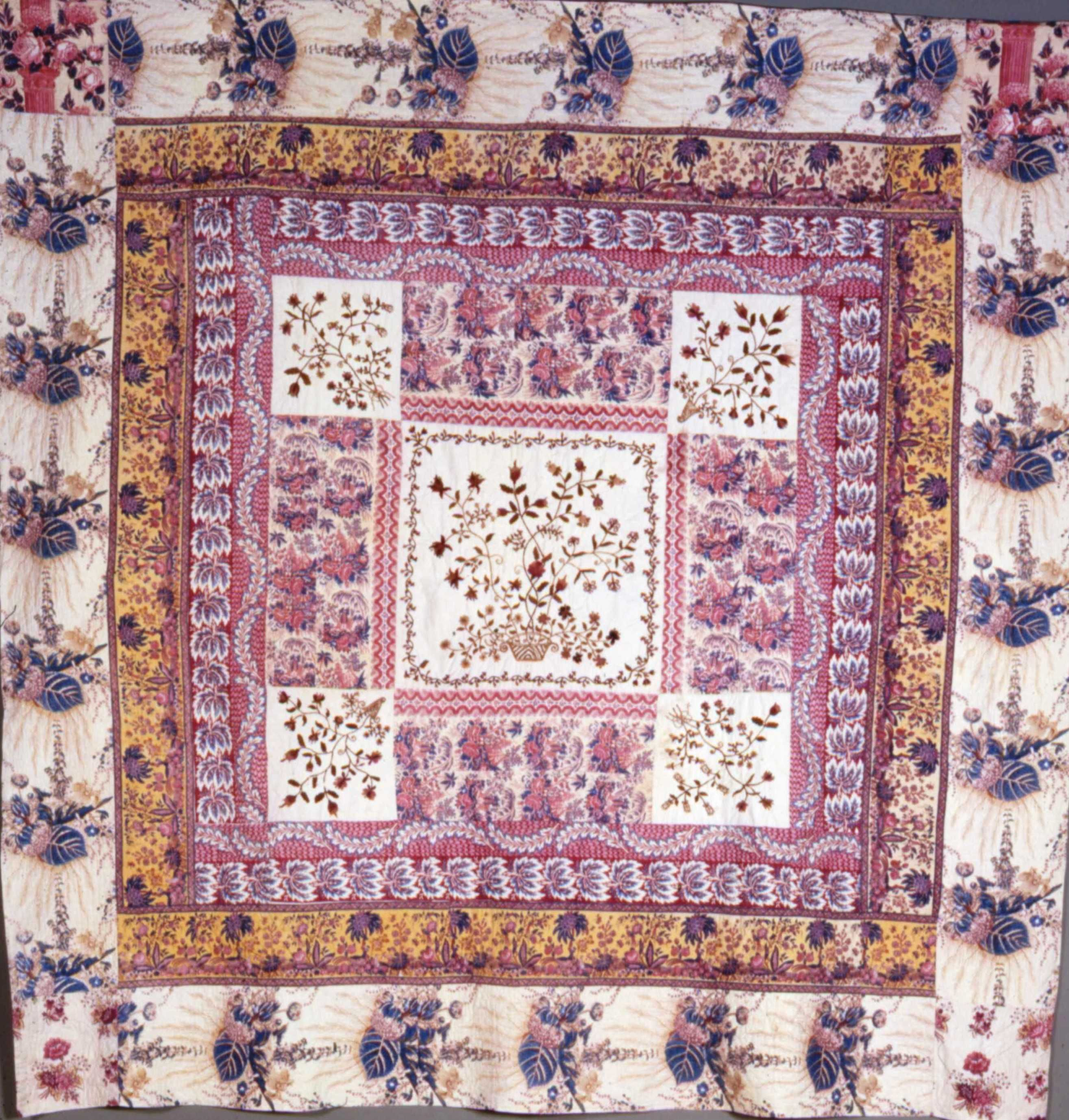 Frame Quilt With Embroidered Centre