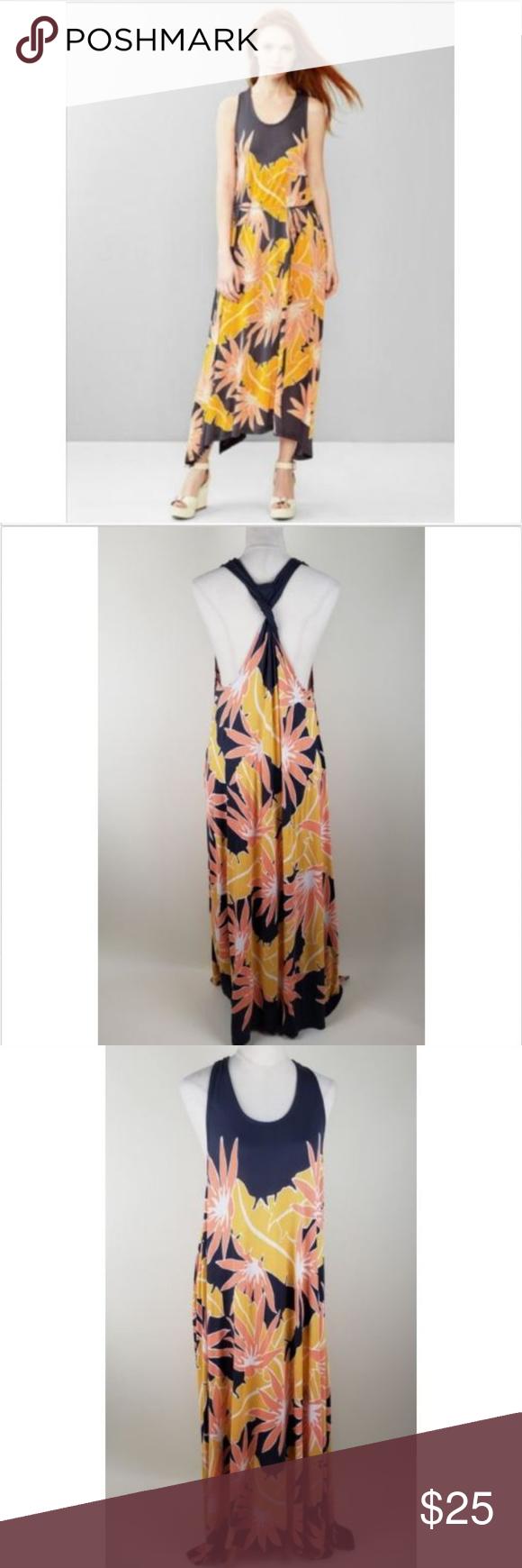 Pretty Gap Tropical Floral Racerback Maxi Dress Racerback Maxi Dress Dresses Clothes Design [ 1740 x 580 Pixel ]