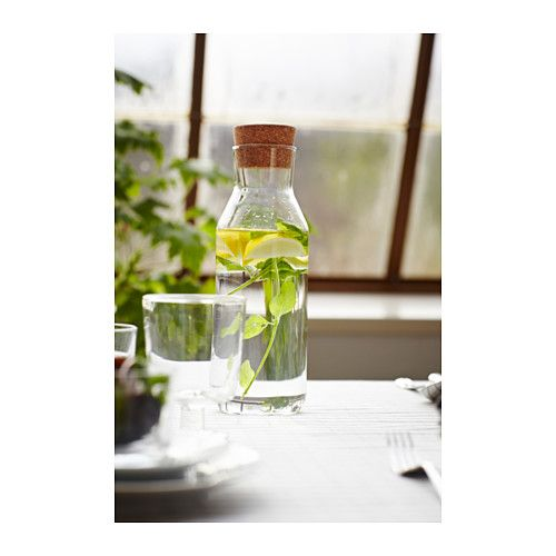 ikea 365 carafe with stopper clear glass cork. Black Bedroom Furniture Sets. Home Design Ideas