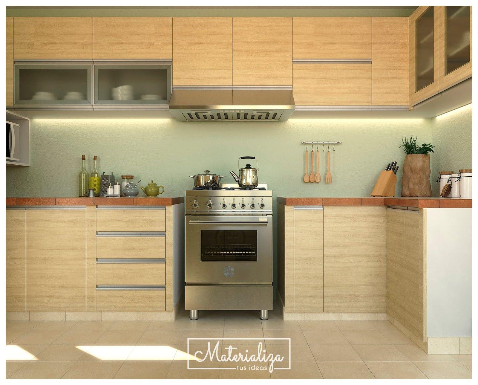 MUEBLE COCINA EN MELAMINA CARVALO | cocinas | Pinterest | Cocinas ...