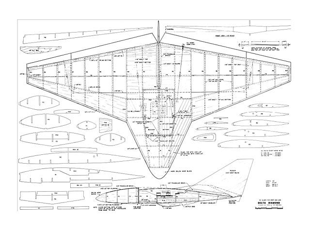 Delta Diamond Oz3037 By Ed Erfurth From American Aircraft Modeler 1973 Plan Thumbnail Model Airplanes Model Aeroplanes Airplane Design