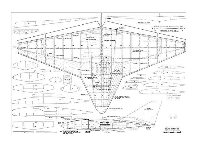 Outerzone : Delta Diamond plan : download free vintage model ... | SAILPLANES | Radiocontrol ...