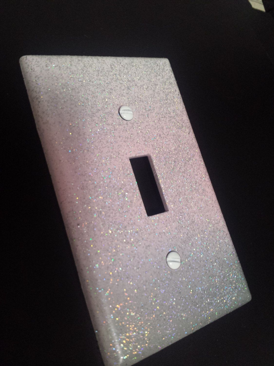 Sparkly Pink White Gray Ombre Style Glitter Light Switch