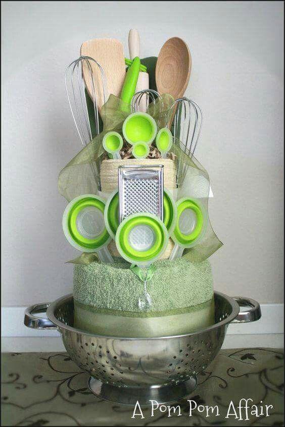 centro de mesa cucharas verde t de cocina pinterest cadeau id es cadeaux y panier cadeau. Black Bedroom Furniture Sets. Home Design Ideas