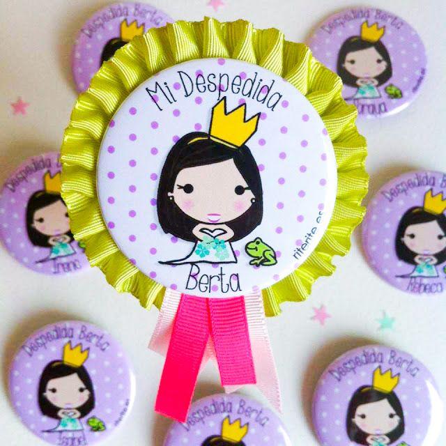 9564b8da9d7f Rite Rite  Despedida de soltera Berta. Medalla personalizada novia y chapas  amigas