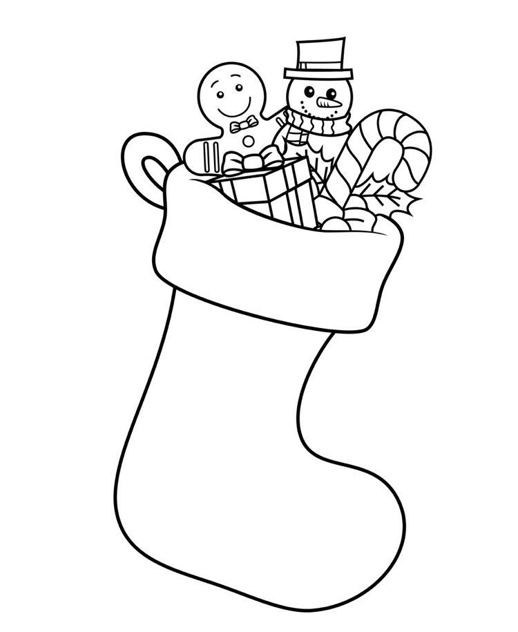 Zentangle Vorlagen Weihnachten Nikolausstiefel Umriss #deko #ideen ...